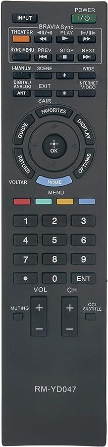 Vinabty Nueva rmyd047 rm-yd047 sustituir mando a distancia para Sony Bravia TV kdl-32bx305 kdl-32ex305 kdl-32ex306 kdl-32ex405 KDL-32EX605 kdl-32ex607 KDL-32EX705 KDL-32EX707 KDL-32EX715 KDL-32EX717 kdl-40bx405: Amazon.es: Electrónica