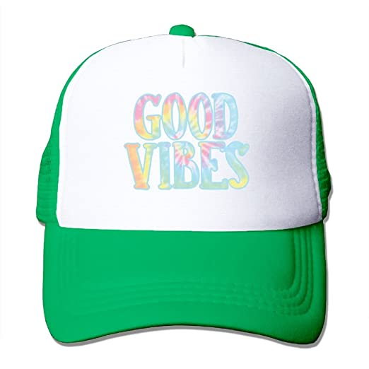 783971443 Amazon.com: HHNYL Good Vibes Mesh Snapback Trucker Hats Baseball Cap ...