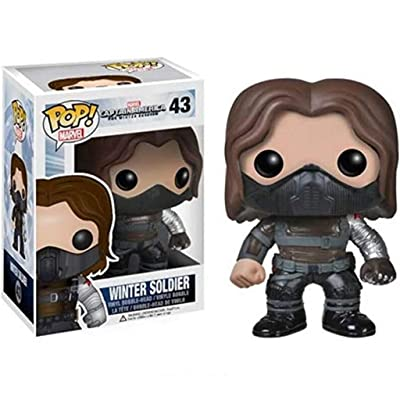 GLUSa Winter Soldier(Bucky Barnes) x POP! Manga PVC Exquisite Collectible Figure, Multicolor 3.9 inch: Home & Kitchen