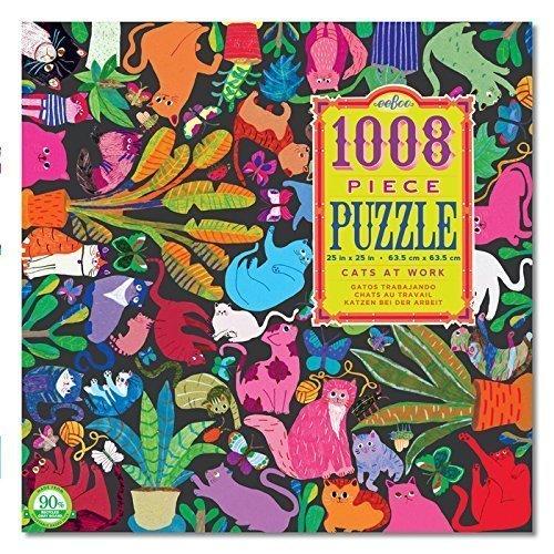 Amazon.com: Eeboo Cats At Work 1008 Piece Puzzle by eeBoo ...
