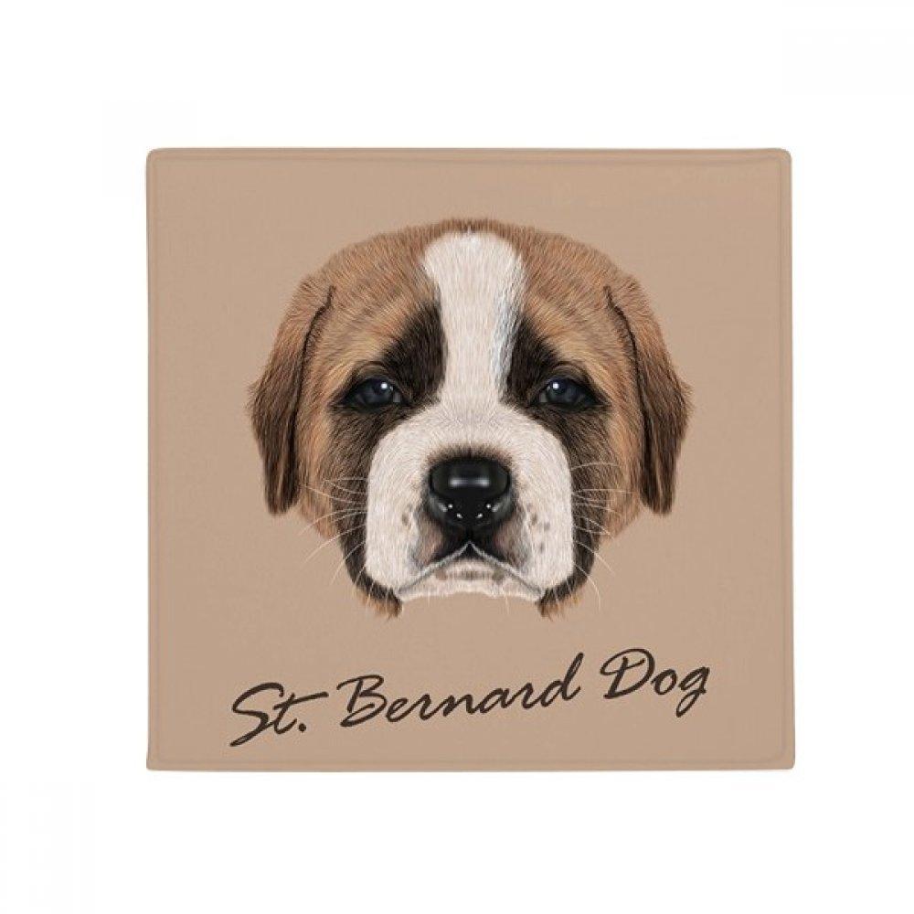 DIYthinker Brown Cute St.Bernard Dog Pet Animal Anti-Slip Floor Pet Mat Square Home Kitchen Door 80Cm Gift