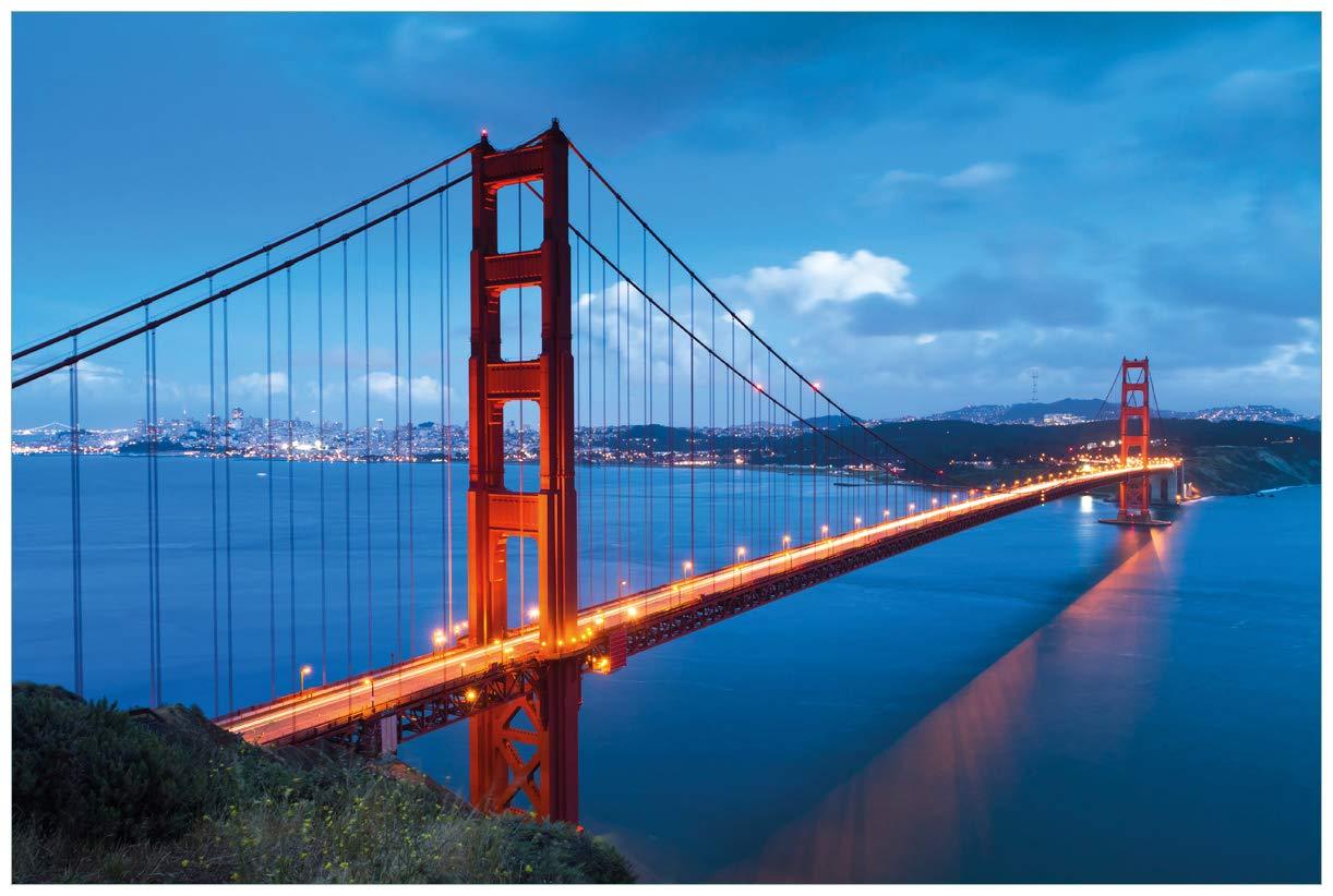 Golden Gate Bridge San Francisco USA San USA Wallario Poster in 61 x 91,5 cm