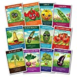 UNTREATED, NON-GMO, Non Hybrid 12 Heirloom Varieties of Vegetable Seeds by Zziggysgal