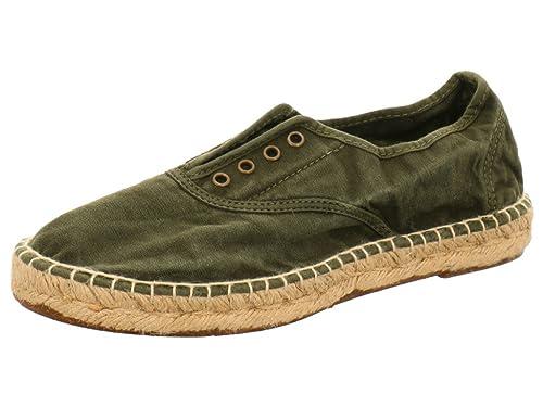 Natural World 620 505 - Mocasines de tela para mujer, color verde, talla 36: Amazon.es: Zapatos y complementos