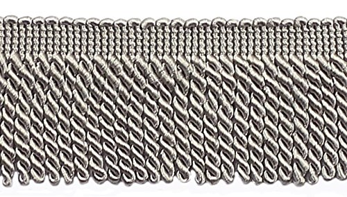 10 Yard Value Pack of Grey 2.5 Inch Bullion Fringe Trim, Sty