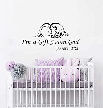 Amazoncom Wall Decals Quotes Vinyl Sticker Decal Quote Baby Angel