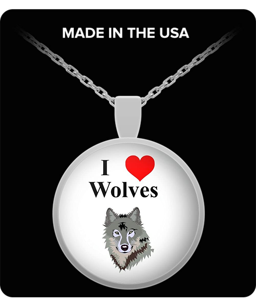 I Heart Wolves Necklace