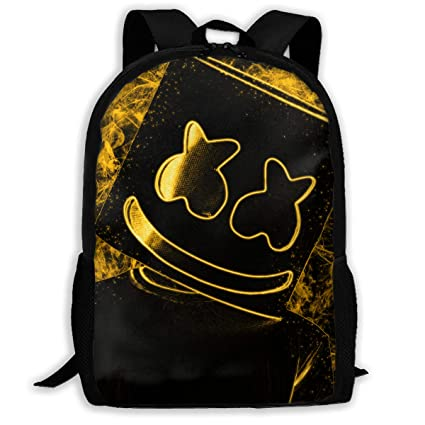 d1e3cd88de5c Amazon.com: KCdrMI1E33 Bookbag Backpack Golden Marshmello Super ...