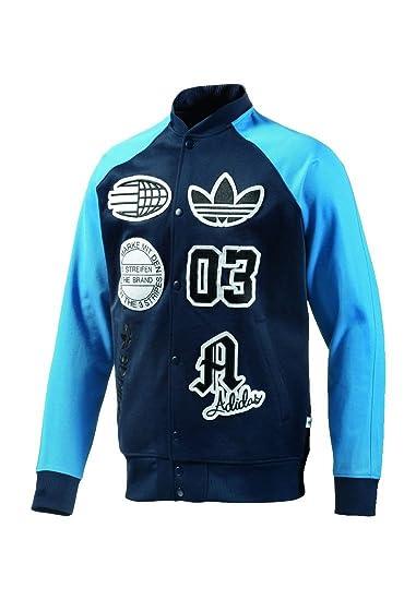 Adidas Collegejacke Men Logo Stadium TT S27486 Navy Blau