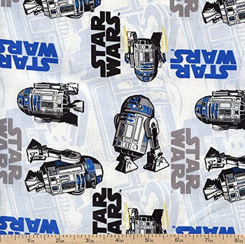 1/2 Yard - Star Wars R2D2 Tossed Flannel Fabric - Officially Licensed (Great for Quilting, Sewing, Craft Projects, Quilts, Throw Pillows & More) 1/2 Yard X 44