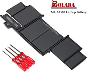 "A1582 New Laptop Battery Replacement for 2015 MacBook Pro 13"" Retina A1502, ME864 ME865 MF839 MF840 MF841;MacBook A1493(Late 2013, Mid 2014 Version)"