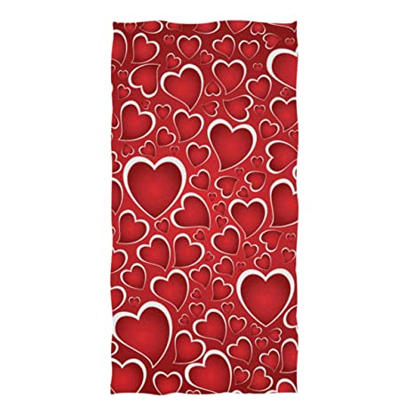 ZZKKO - Toalla de baño con Texto Happy Valentines Loves, para bebé, niños,
