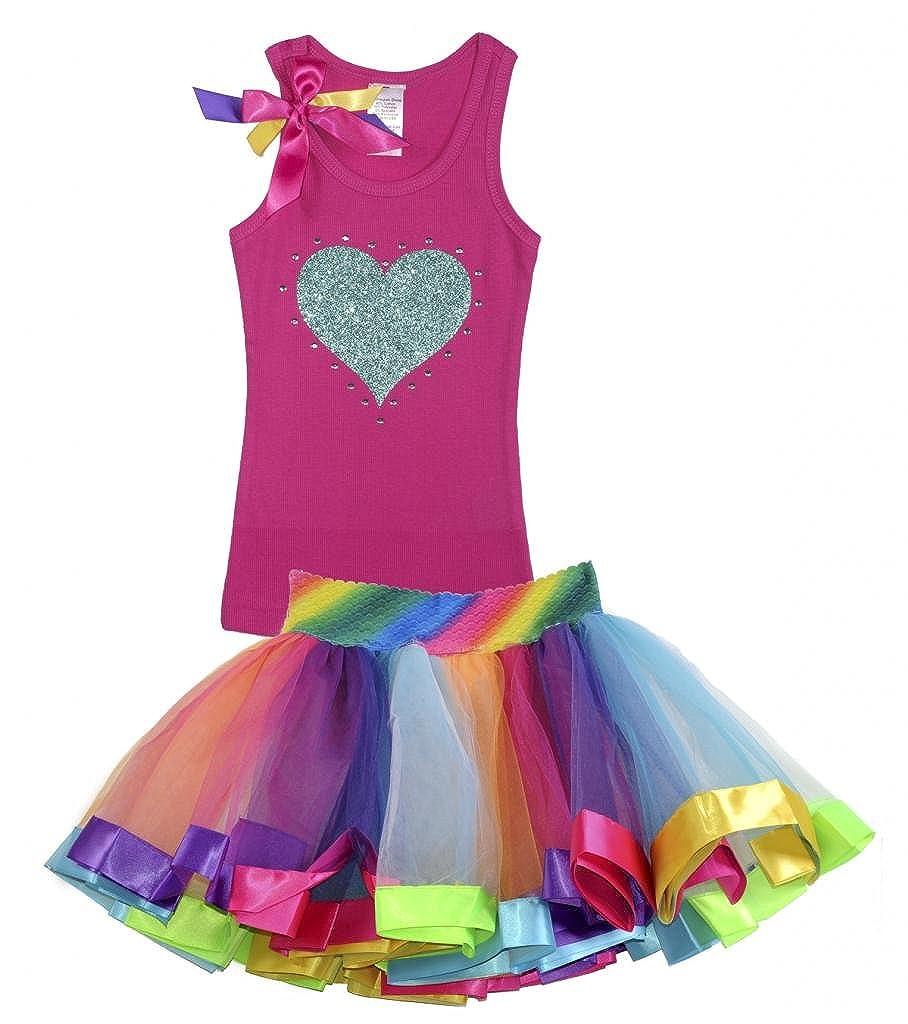 Bubblegum Divas Little Girls Birthday Rainbow Tutu Set