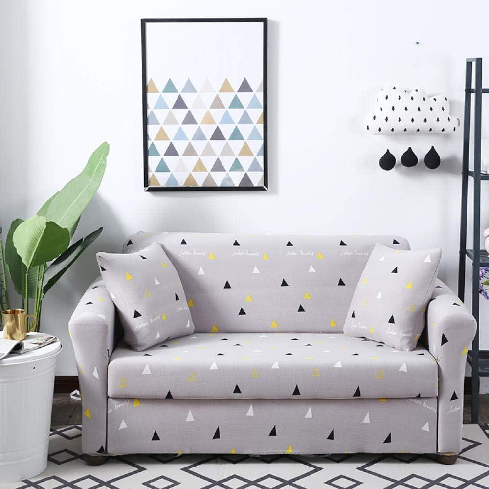 Awzzrs Comficent Funda Cubre Sofá Chaise Longue, Estilo nórdico 2 Funda Sofá Universal Estiramiento, Protector Antideslizante Elastic Soft Sofa Couch Cover-4 asientos/235-300cm