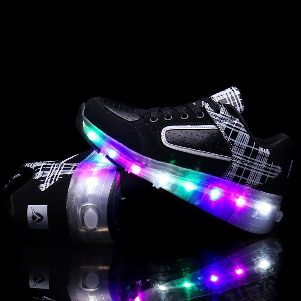 Hanglin Trade Boys Girls LED Light Up Shoes with Wheels Roller Sneakers Skate Shoes