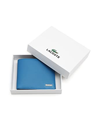 39ce0ffc3c4c20 LACOSTE - Wallets - Men - Blue and Black Leather Wallet for men - TU   Amazon.co.uk  Clothing