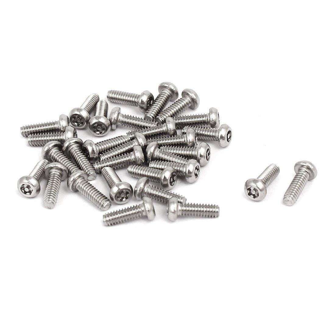 50 Stück M2X6 Torxschrauben Linsenkopf DIN 7985 A2 M2