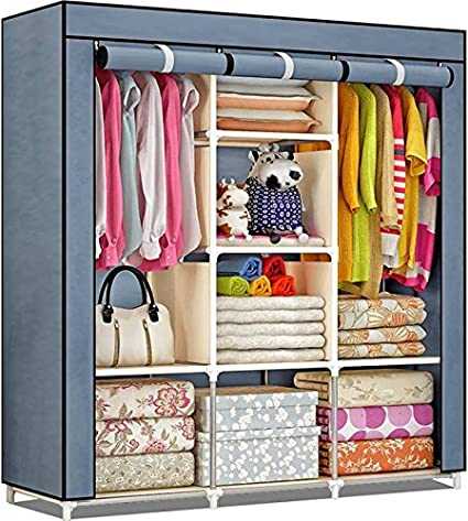 Styleys Fancy And Portable Foldable Fabric Closet Collapsible Wardrobe(Need  To Be Assembled)(