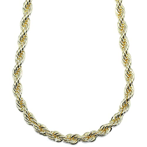Mega Jewellery Gold Plated HIP HOP Rope Chain e44d98257cdc