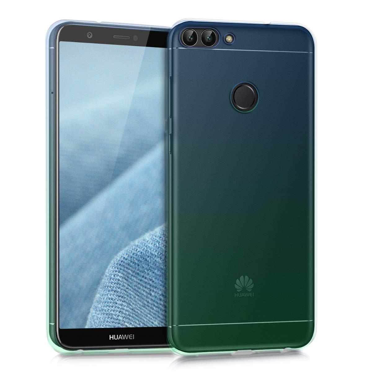 P Smart P Smart kwmobile Coque Huawei Enjoy 7S Housse de t/él/éphone en Silicone dor/é-Transparent Coque pour Huawei Enjoy 7S