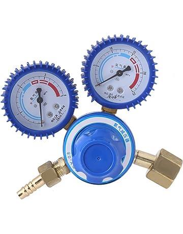 Reductor de presión de oxígeno - 1pc Regulador de latón Reductor de presión de oxígeno Calibrador