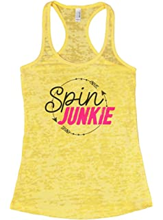 "0146ef562b4a06 Women s Spinning Class Tank Top ""Spin Junkie"" Ladies Exercise Shirt - Funny  Threadz"