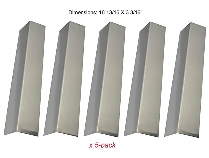 4pack Porcelain Steel Heat Plate Heat Shield Zljiont Replacement Barbecue Grill Gas BBQ Brinkmann 810-1420-0 Gas 4pack Stainless Steel Grill Burners 3pack Stainless Steel Carry Over Tube