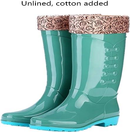 marca blanca Botas De Lluvia Damas/Tubo Alto Antideslizante Impermeable Impermeable Resistente Al Desgaste Botas De Lluvia De Moda/Botas De Lluvia De Jardín Al Aire Libre: Amazon.es: Hogar