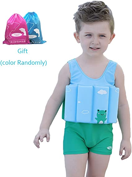 Swimwear Safey Buoyancy Swimsuit Float Suit For Toddler Child Kid Girl Age 2 6 8