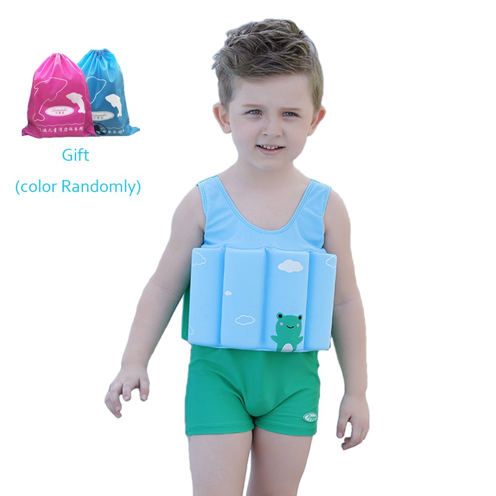 Amazon.com : Kids Life Jacket Baby Floatation Suit Detachable Float ...
