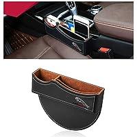 DEFTEN Car Seat Gap Filler Premium PU Full Leather Seat Console Organizer, Car Seat Storage Box for Jaguar xj xf F-PACE…