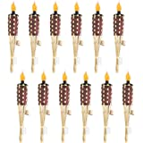 DikaSun Weave Bamboo Torches, Halloween Decorations 57'' Decorative Torch Fiberglass Wicks for Party and Camping (12…