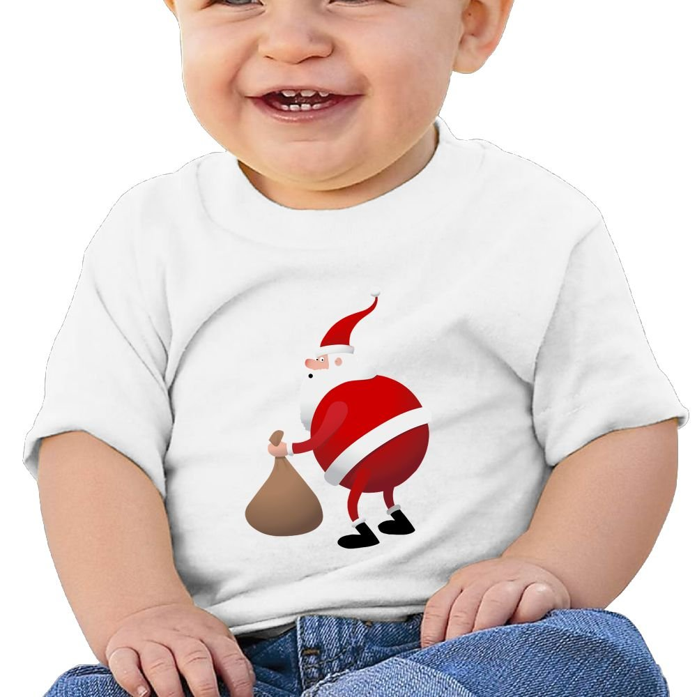 Santa Claus Baby Tops T Shirt Unisex Cute Merry Christmas Cotton Baby Toddler Tops