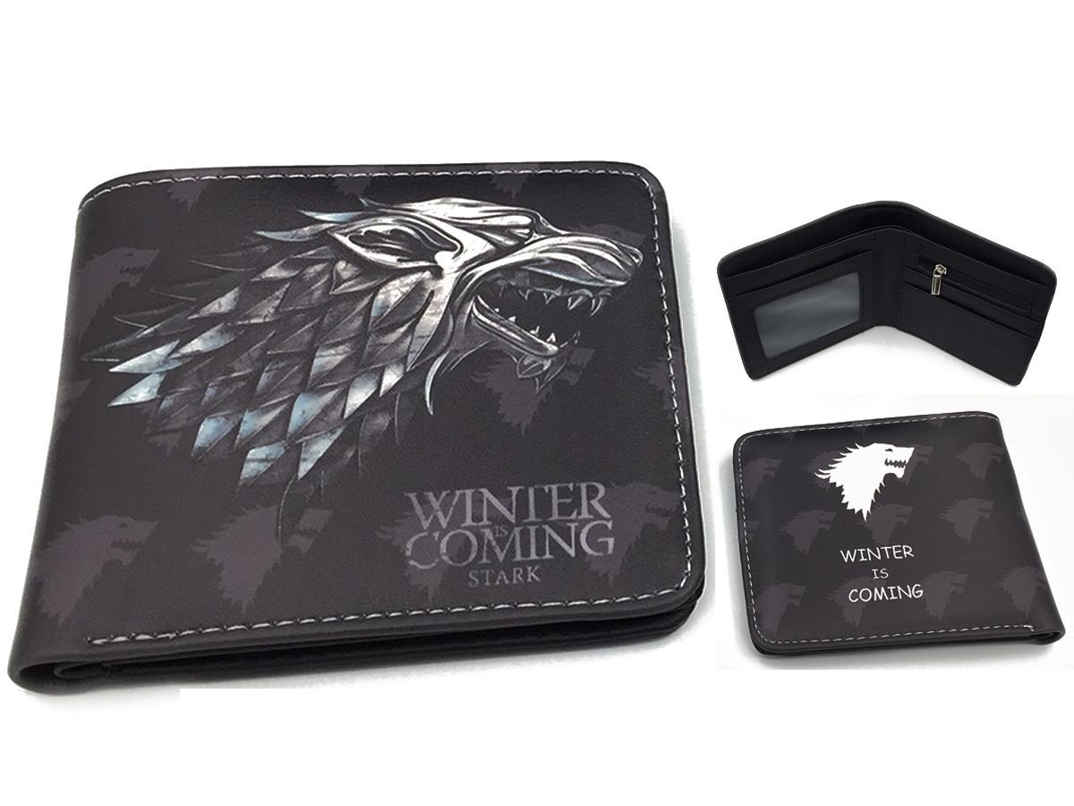 GAME OF THRONES WINDER IS COMING CARD HOLDER TRAVEL OYSTER WALLET STARK WOLF