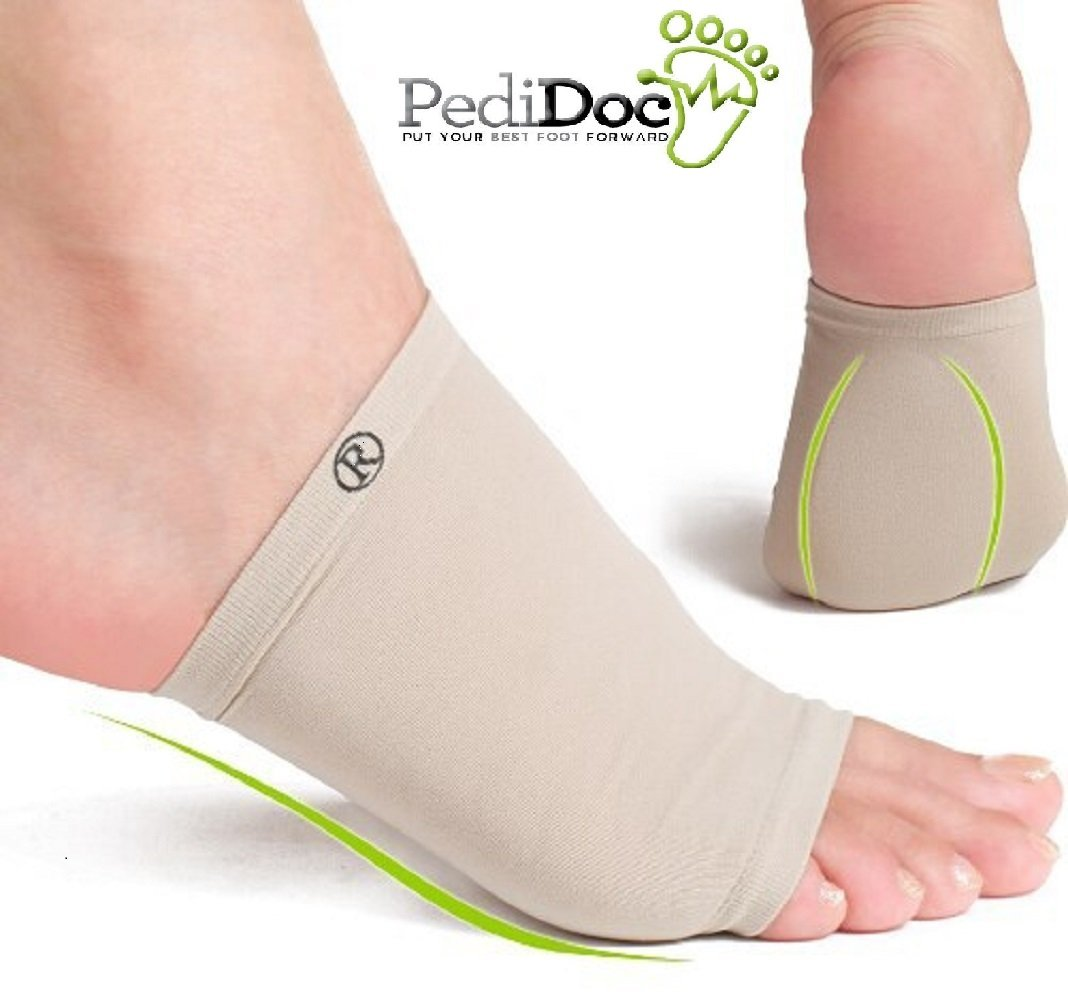 Pedidoc™ Arch Support Inserts - Plantar Fasciitis Arch Sleeve Wrap - Plantar Fasciitis Shoe Inserts with Comfort Gel Cushions to Relieve Foot Pain from Plantar Fasciitis and Flat or Fallen Arches -