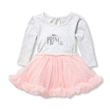 71bee7a8a Amazon.com  The Children s Place Baby Girls  Long Sleeve Tutu ...