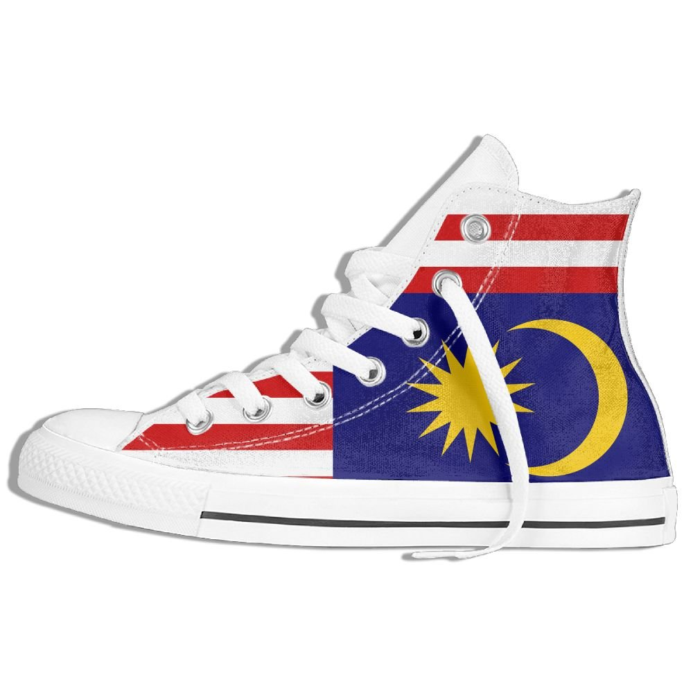GoOutdoor Flag Of Malaysia Sports High-top Canvas Shoes Lace-up Sneakers Unisex
