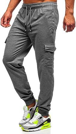 BOLF Hombre Pantalón Deportivo Pantalones De Chándal Jogger Pantalón de Algodón Entrenamiento Fitness Jogging Estilo Urbano 6F6: Amazon.es: Ropa y accesorios