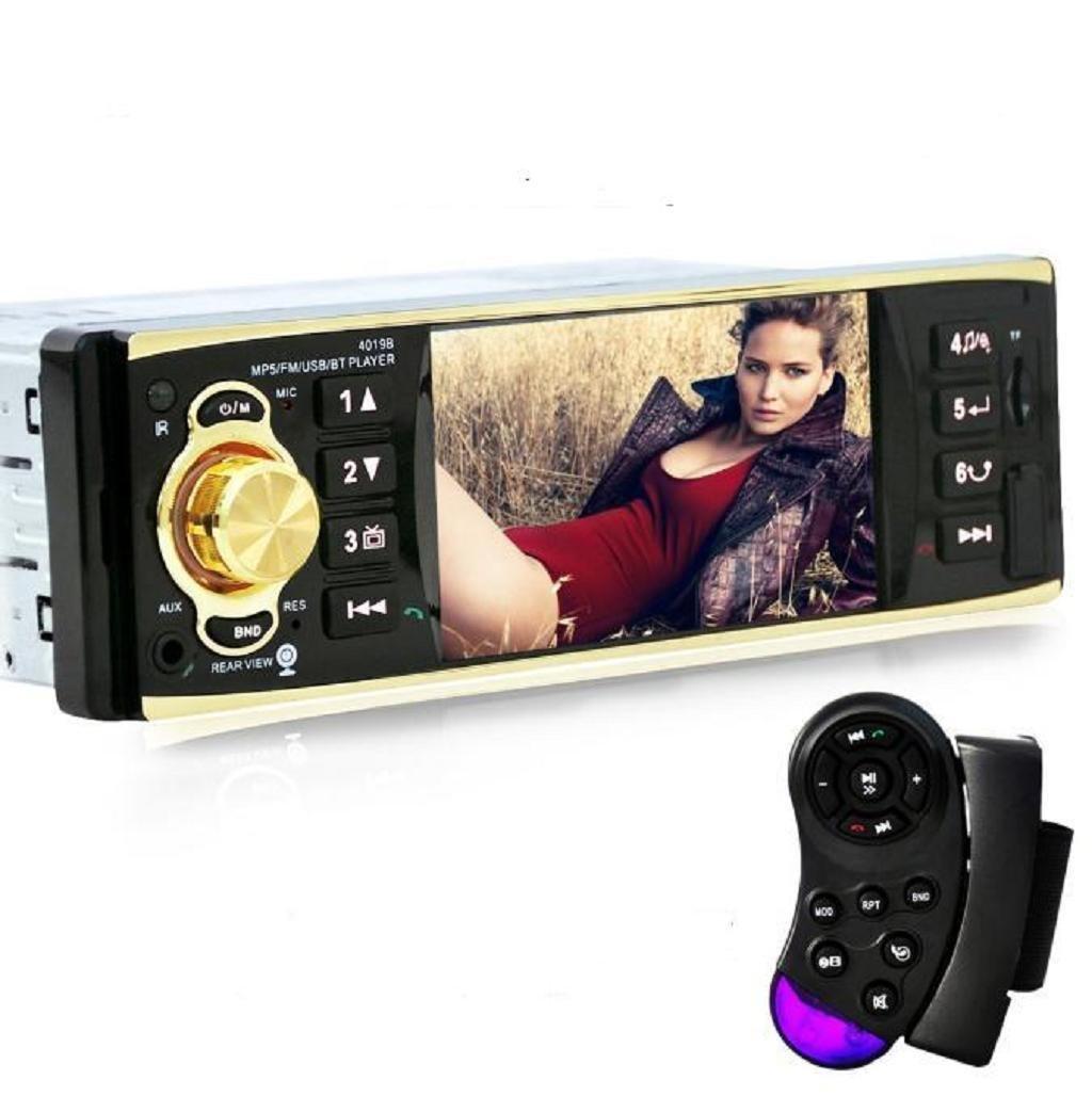 Sannysis 4.1 Bluetooth Auto Audio FM Entrada auxiliar Receptor USB SD MP3 Radio [Clase de eficiencia energética A+++]