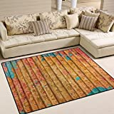 YZGO Rusty Metal Map - Kids Children Area Rugs Non-Slip Floor Mat Resting Area Doormats