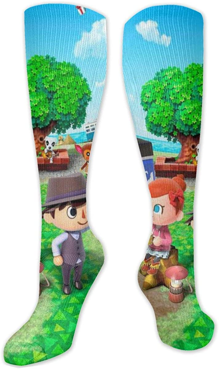 Animal Crossing Unisex Youth Novelty Knee High Long Sports Sock Cosplay Performance Tube Stockings