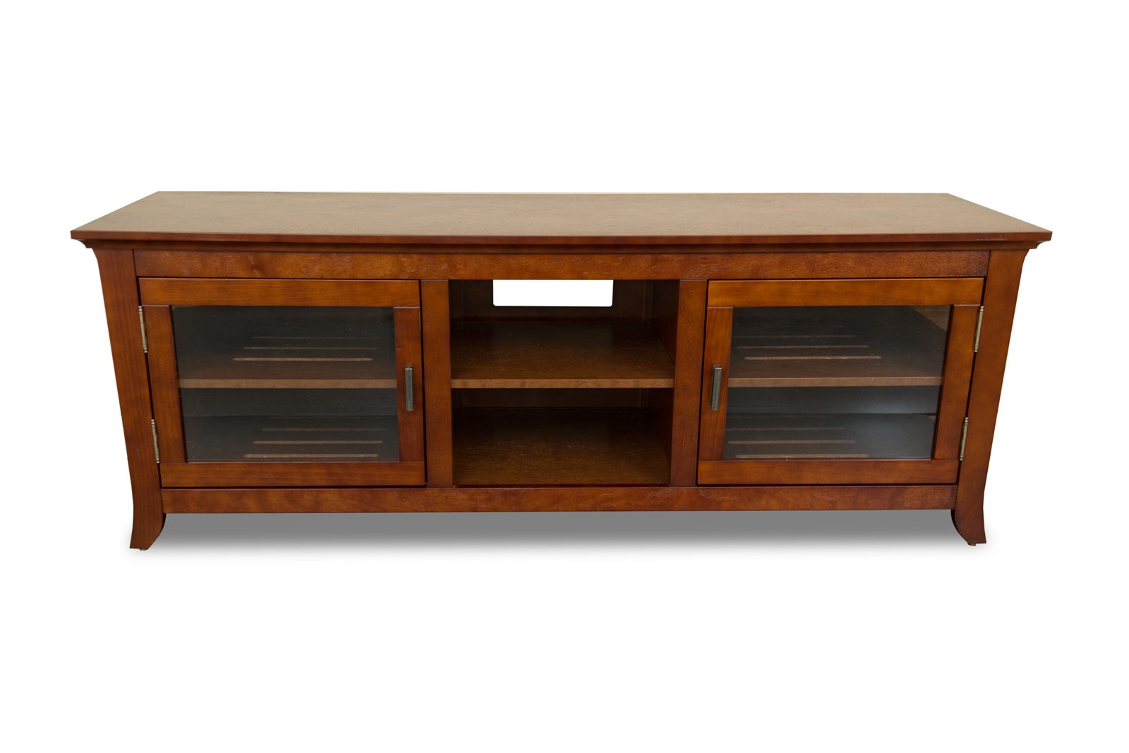TechCraft PAL62 62 Inch Wide Flat Panel TV Credenza   Walnut