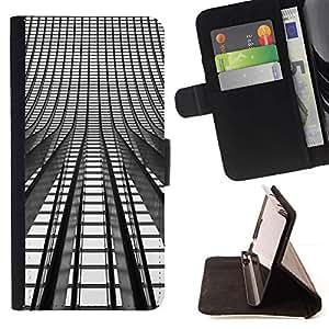 For Sony Xperia Z3 D6603 Case , Se enciende Arquitectura Arquitectura Ciudad- la tarjeta de Crédito Slots PU Funda de cuero Monedero caso cubierta de piel