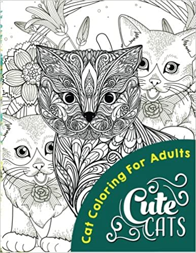 Cute Cats Adult Coloring Books Volume 1 Cat 9781533221865 Amazon