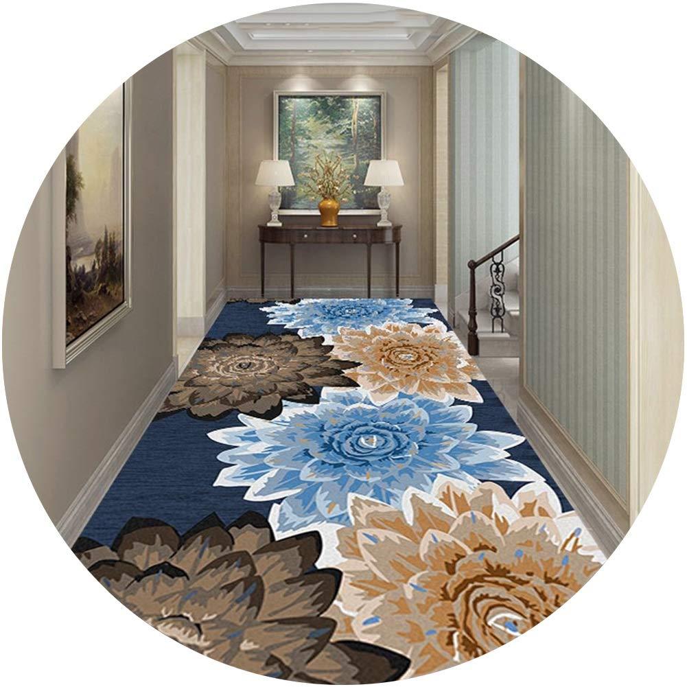 JIAJUAN 3D 廊下敷きカーペットランナー エリア ラグ 掃除が簡単 にとって 回廊 キッチン 入り口 と 滑り止め バッキング、 カスタムサイズ (Color : A, Size : 1.2x6m) B07SGRKRKF A 1.2x6m