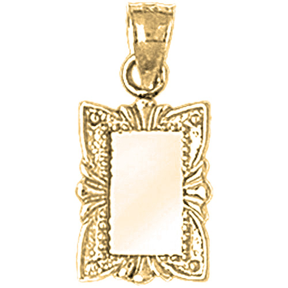 14K Yellow Gold-plated 925 Silver Mirror Pendant with 16 Necklace Jewels Obsession Mirror Necklace