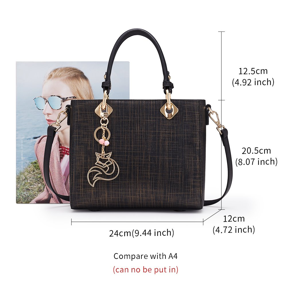 6b650dabe376 FOXER Female Leather Handbag Purse Top Handle Crossbody Bag Leather Tote  Shoulder Bag For Womens