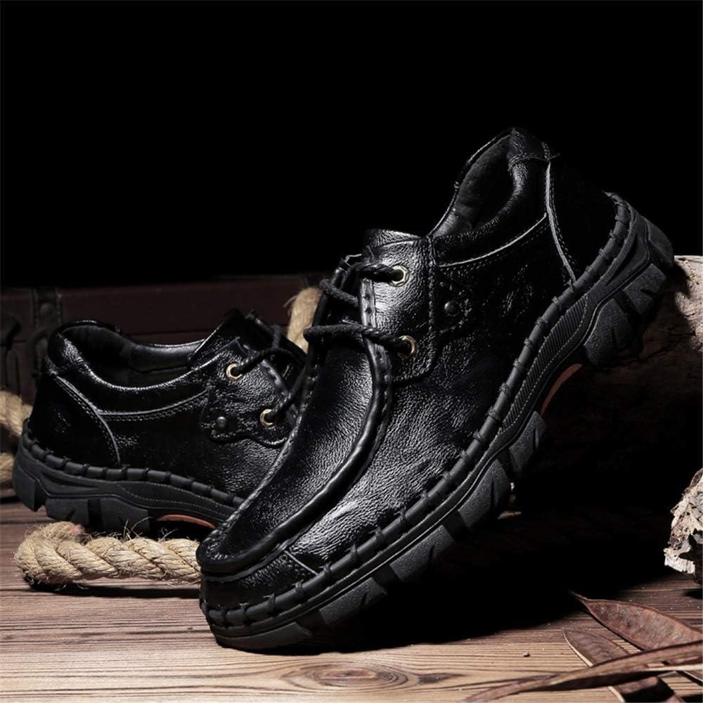 Chaussures de Travail Tendance pour Homme en Cuir PU Respirant Confortable Mocassins doublés antidérapants Noir