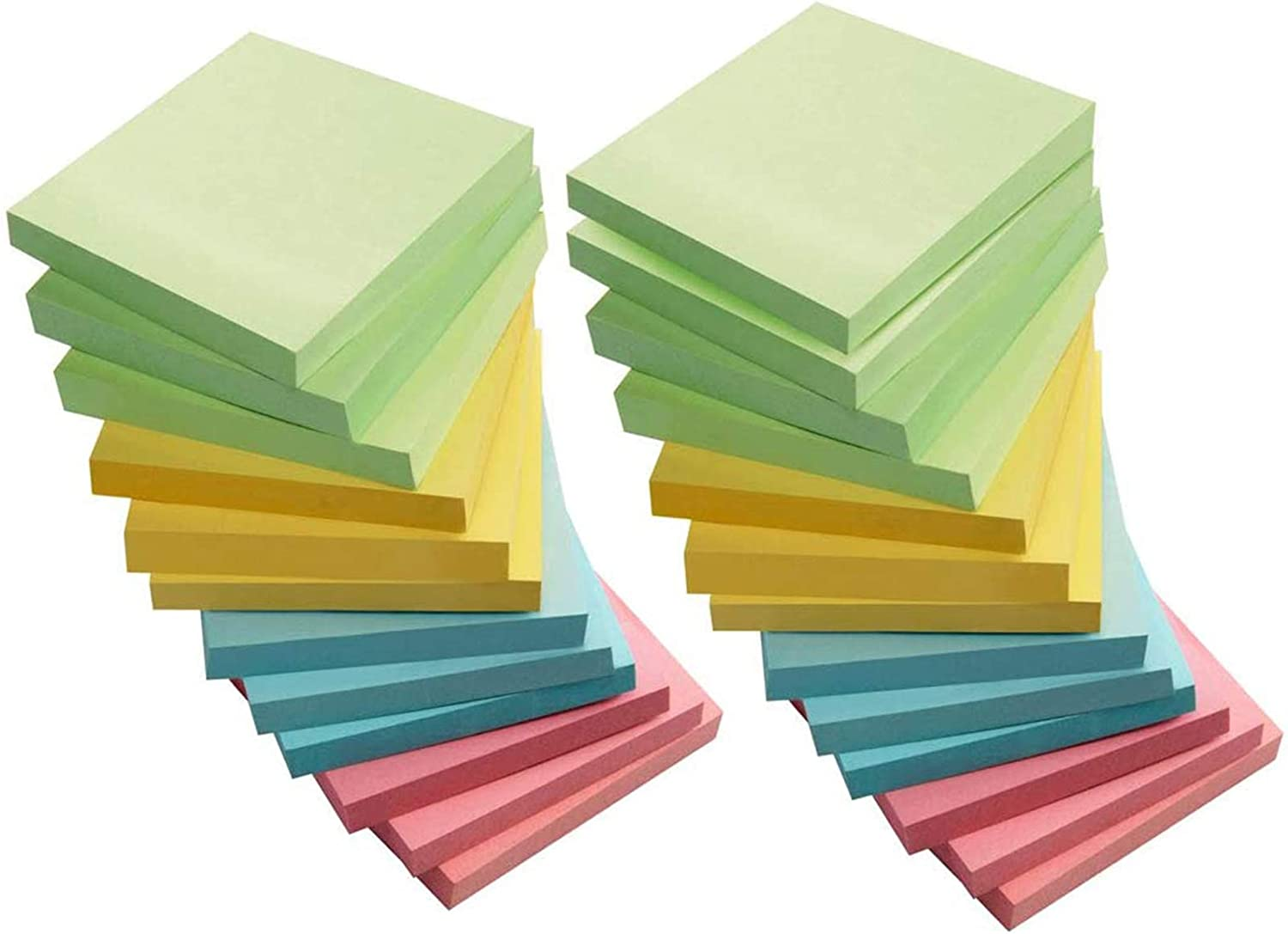 Sticky Notes, 3x3 Inch Sticky Notes Self-Stick Note Pad Post for Home, Office, 72 Sheets/Pad, 4 Colors, Pack of 25