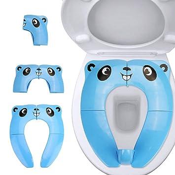 Upgrade Version Faltbarer Toilettensitz Blau Kinder Faltbarer Toilettentrainer Unterwegs f/ür Kinder//Baby,Tragbar Reise WC Sitz Kleinkind T/öpfchentrainer WC Sitzbez/üge